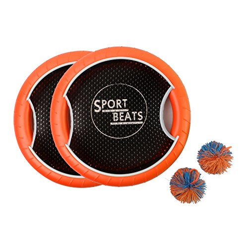 SPORT BEATS Outdoor Bouce-Back Trampoline Paddle Ball Game Set For 2 Player 1 Balls (Pro Fly Yo Yo)