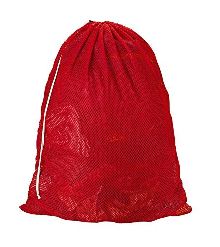 Easy-W Red-24'' x 36'' Commercial, Heavy Polyester Mesh Laundry Bag - Made in USA by Easy-W