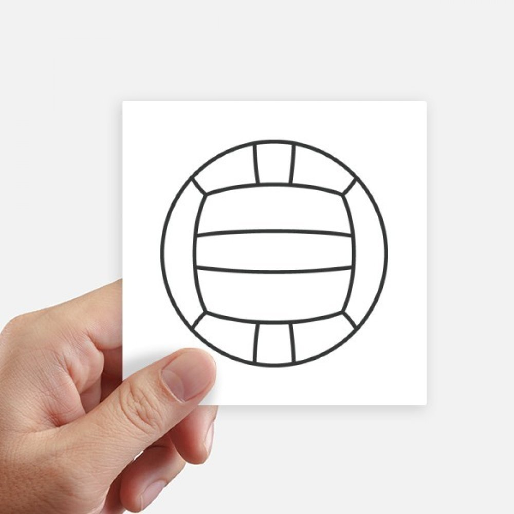 Amazon Com Diythinker Volleyball Sport Line Drawing Pattern Square