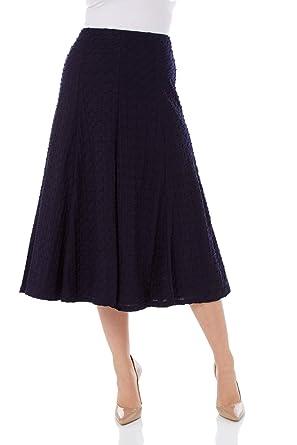 Elasticated Waist Size 12-18. Skirts Candid Sky Blue Knee Length Floaty Skirt Women's Clothing