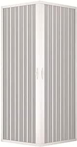 Mampara ducha en PVC con apertura angular con dos puertas ...