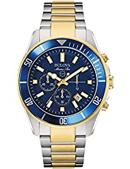 Bulova Mens 98B230 Marine Star Chronograph Japanese Quartz Two Tone Watch