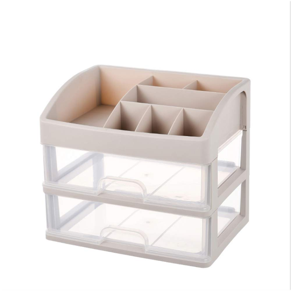 PURROMM Office Drawer Storage Gift Environmentally Friendly Non-Toxic and Tasteless PP Thick Material Classification Finishing Cosmetics Storage Box,A,Extralarge2layer