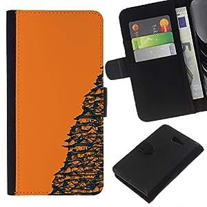 """A-type (Templo Naranja japonesa"""") Colorida Impresión Funda Cuero Monedero Caja Bolsa Cubierta Caja Piel Card Slots Para Sony Xperia M2"""