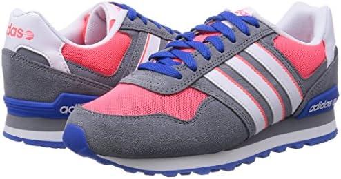 adidas 10K W - Zapatillas Deportivas para Mujer, Color Gris/Rosa/Blanco, Talla 42: Amazon.es: Zapatos y complementos