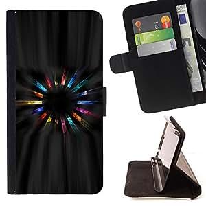 BullDog Case - FOR/Samsung Galaxy A3 / - / universe cosmos art ranbow crystals magic /- Monedero de cuero de la PU Llevar cubierta de la caja con el ID Credit Card Slots Flip funda de cuer