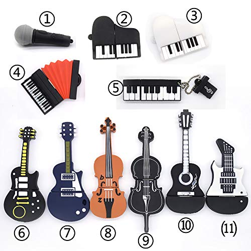(Morrenz - Musical Instruments Model Pen Drive USB Flash Drive Microphone Piano Guitar Pendrive 4g 8g 16g 32g[ Style 7 4G ])