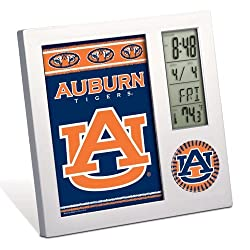 NCAA Auburn University Desk Clock, Black