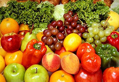 Wallmonkeys Fresh Fruits and Vegetables Peel and Stick Wa...