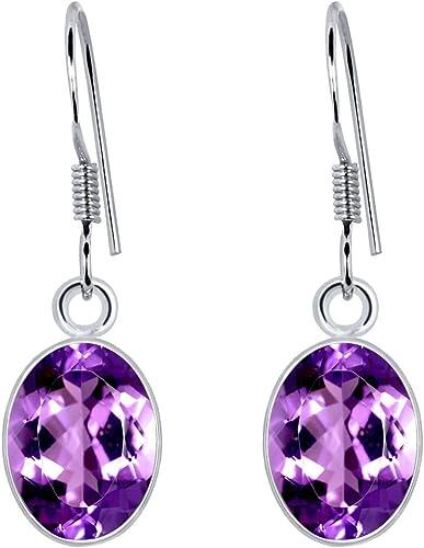 Beautiful Purple 925 Sterling Silver Earring Nature for Women Earrings