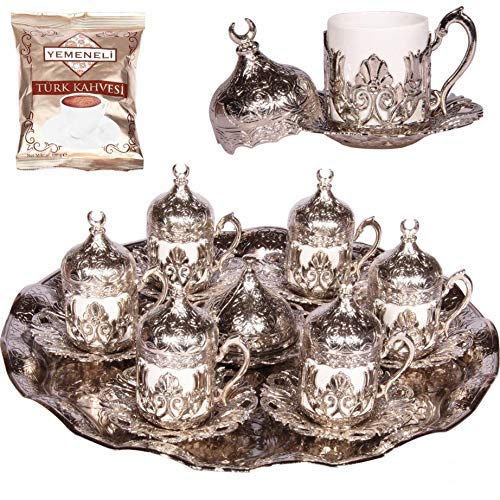 Alisveristime 27 Pc Ottoman Turkish Greek Arabic Coffee Espresso Serving Cup Saucer (Hilal) by Alisveristime (Image #5)