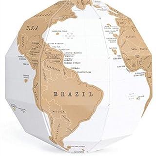 Mappamondo Globo Fai da Te Fatto a Mano Globo Mondo educativo mappamondo 3D Puzzle Regali creativi per Bambini Ragazze Ragazzi Decorazione Gadget per Scuola/Bambini