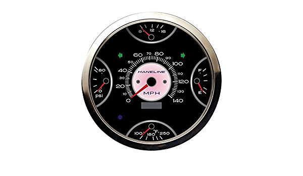 Cyberdyne 5-in-1 Cluster Kit Black Face with GPS Enabled Speedometer