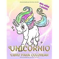 Unicornio Libro para colorear para niños y adultos: