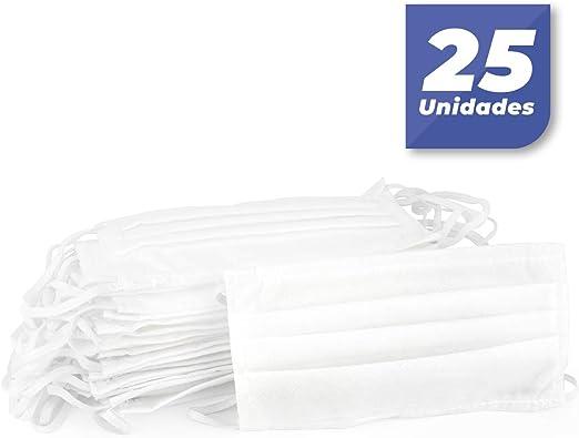 Bonalto Paquete de 25 Cubrebocas de 3 capas desechable con bucle elástico para orejas