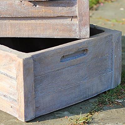 "Northlight Three Tier Planter Boxes Outdoor Patio Garden Water Fountain, 21"", Brown"