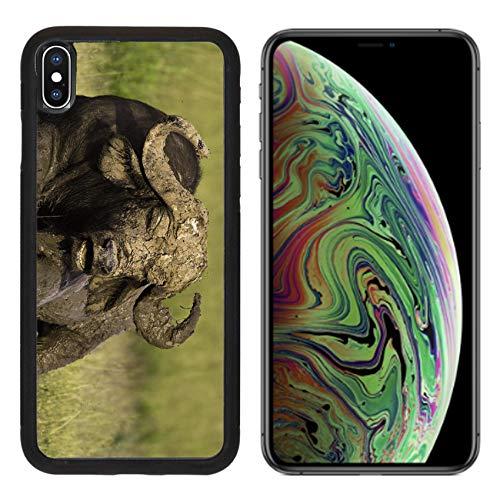 Liili Premium Apple iPhone Xs MAX Aluminum Backplate Bumper Snap Case African Cape Buffalo Photo 20215705 ()