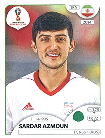 2018 panini world cup stickers russia 191 sardar azmoun iran soccer sticker