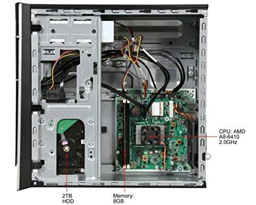 HP Pavilion 500 Premium Flagship Desktop Computer, AMD A8-6410 Quad-Core on