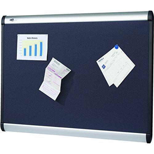 (Quartet Prestige Plus Magnetic Fabric Bulletin Board, 4 x 3 Feet, Aluminum Finish Frame, One Board per Order (MB544A))