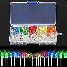 10 value 200pcs Five colors 5mm Round bright light LED Diode Assortment kit New
