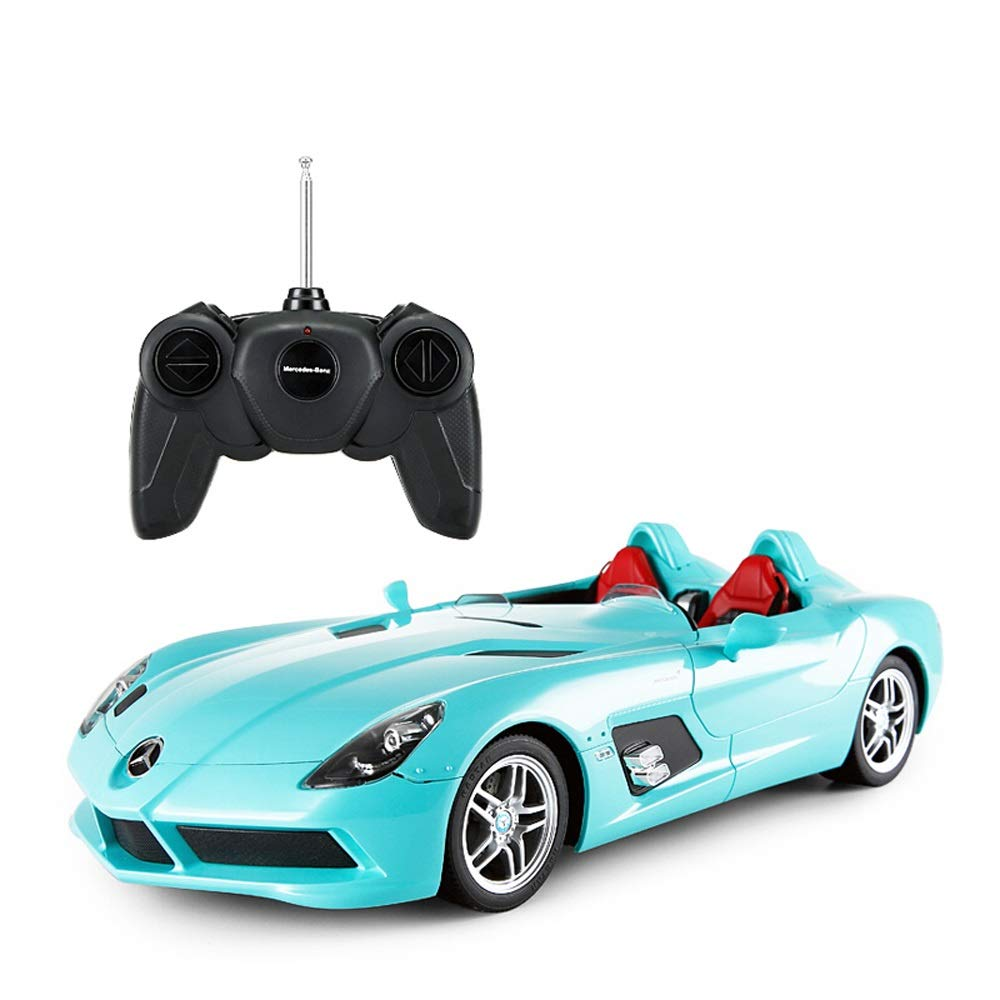 bluee Kikioo Hardcover Version Radio Remote 1 12 RC Electric Car Sport Racing Hobby Toy Grade Model Sound and Light Dasher Stunt FourWheel Drive Drifting Vehicle for Kids Boys and Girls Best Gift Black