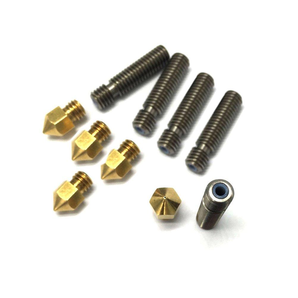 UEETEK 5pcs 30MM 3D-Drucker Extruder 0, 4 mm Messing Dü se mit 5pcs Extruder 1, 75 mm Rohr fü r Reprap Prusa I3