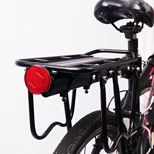 PEXIQAKA Bike Carrier Rack 110 LB Capacity Solid Bearings Universal Adjustable Bicycle Luggage Cargo Rack by PEXIQAKA (Image #3)