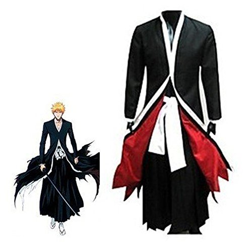 Bleach Hollow Mask - Lifeshoppingmall Bleach Ichigo Bankai Costume Set, Black/White/Red,Medium