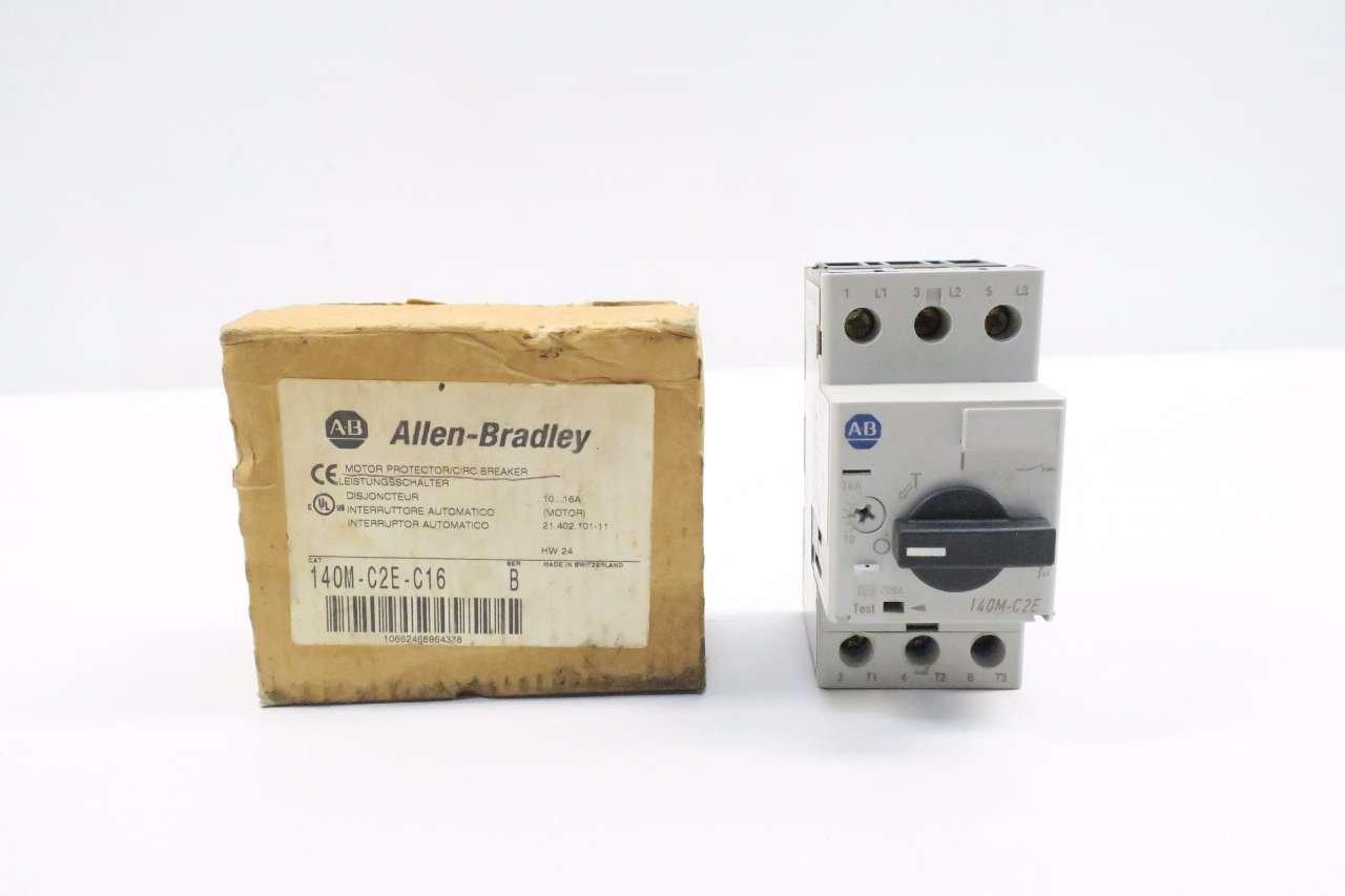 NEW ALLEN BRADLEY 140M-C2E-C16 10-16A 10HP MANUAL MOTOR STARTER SER B D544455