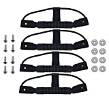 HanLingGG 4 Pcs Durable Rubber Side Mount Carry Handles for Kayak Canoe Boat with Hardware