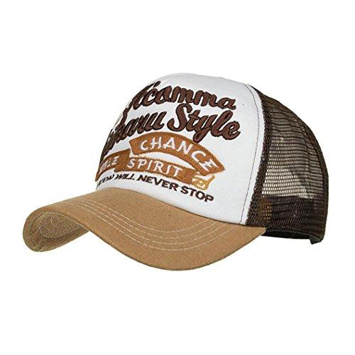 - HTHJSCO Unisex Breathable Baseball Cap, Adjustable Applique Embroidery Baseball Cap Hat Mesh Cap Shade (Yellow)