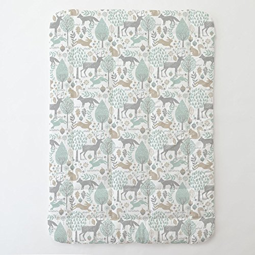 Carousel Designs Gray and Taupe Woodland Animals Toddler Bed Comforter by Carousel Designs
