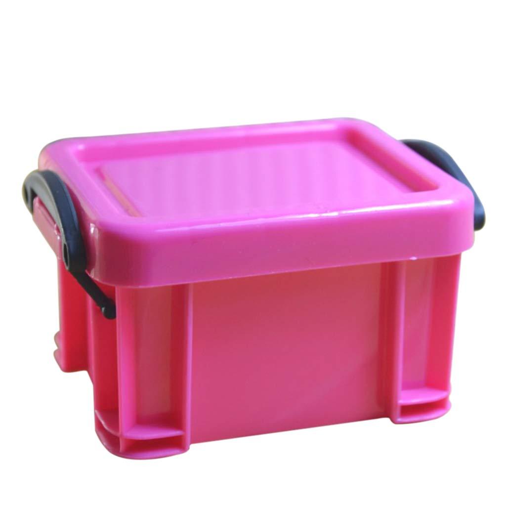 B Blesiya Mini Box Storage Lock Home Furnishing Trumpet Boxes 9 Colors Organizer - Rose Red