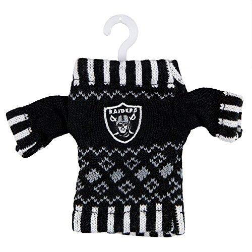 Oakland Raiders Knit Sweater Ornament (Set of ()