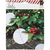 American Crafts Heidi Swapp Oh What Fun Garland Honeycomb Shapes Balls (12 Pack)