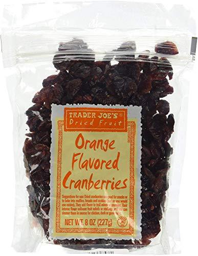 Trader Joe's Orange Flavored Dried Cranberries – 8 oz. Resealable Bag