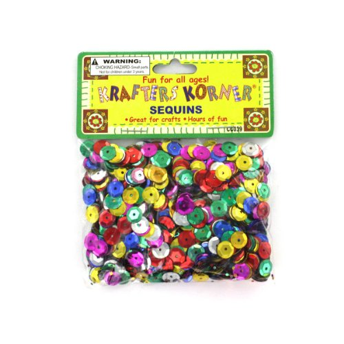 Round Colored Sequins 24/Pack (7 Pack) by krafters korner (Image #1)