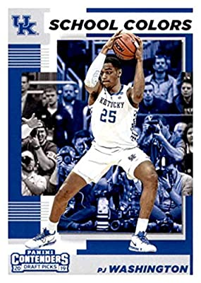 2019-20 Panini Contenders Draft Picks School Colors #15 PJ Washington Jr. Kentucky Wildcats Basketball Card