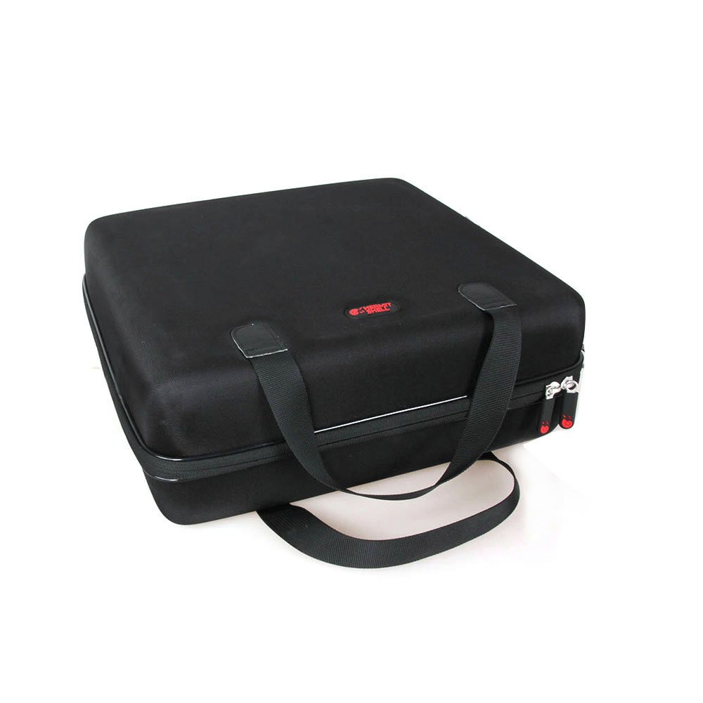 Hard EVA Travel Case for Jensen JTA-230 3 Speed Stereo Turntable with Built in Speakers by Hermitshell