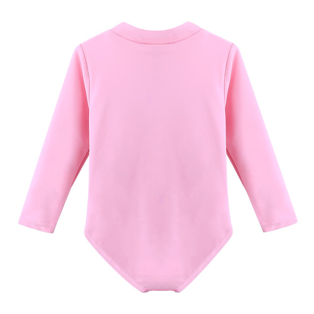 HUANQIUE Baby//Toddler Girl Swimsuit Rashguard Swimwear Long Sleeve One-Piece