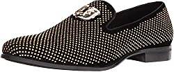 Men's Swagger Studded Ornament Slip-on Style Loafer
