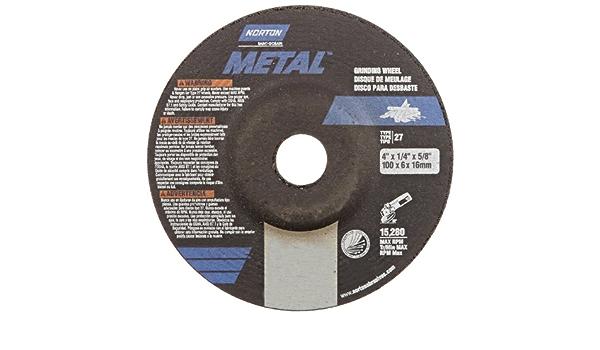 25 PK Norton Metal Grinding Wheel Type 27 4 in X 1//4 in X 5//8 in //// 66252842011