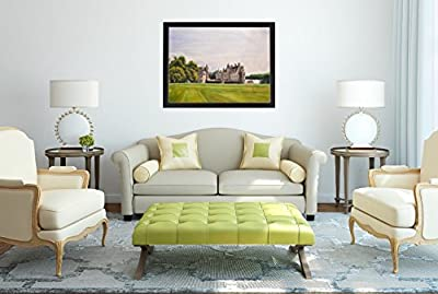 French Castle la Bretesche - MINGOO Rolled (unframed) hand made oil painting - perfect for gift and decoration