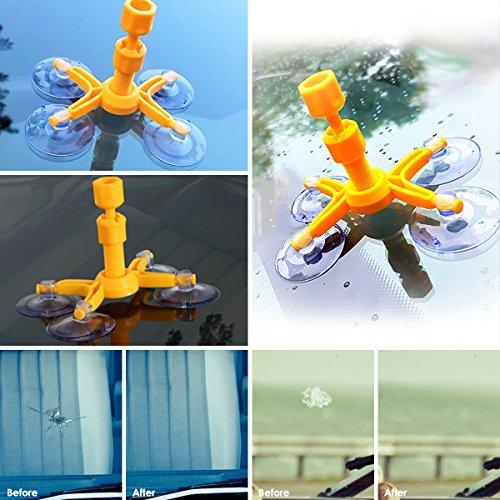 Dealpeak DIY Car Windshield Repair Kit Windshield Crack Chip Repair Tools Quick Fix DIY Auto Window Glass Scratch Repair Kits by Dealpeak (Image #1)