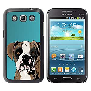 Vortex Accessory Hard Protective Case Skin Cover For Samsung Galaxy Win ( I8550 / I8552 ) - Boxer Art Drawing Dog Brown White