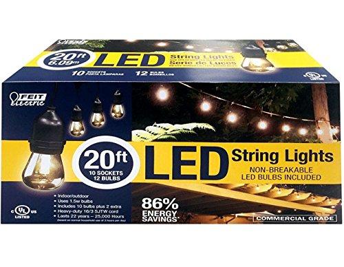 Feit Electric 72026 LGT 20' 1.5W LED String Light Set Black