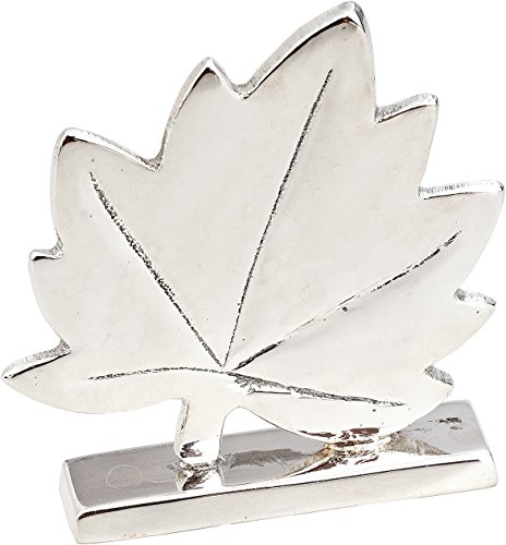 Luna Bazaar Simple Maple Leaf Place Card Holder (2.75-Inch, Silver Plated Solid Brass) - for Home Decor and Wedding Tabletops
