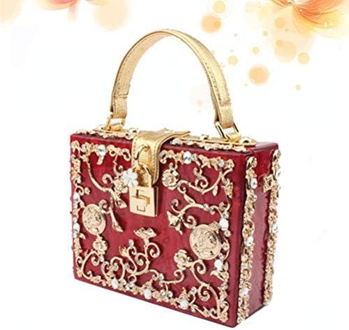 TENDYCOCO Sac à bandoulière pour Femmes Sac à bandoulière Sac à Main de Luxe en Forme de Sac à Fleurs en Forme de Diamant