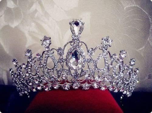 Sunshinesmile Crystal Tiara Crowns Hair Jewelry Rhinestone Wedding Pageant Bridal Princess Headband -